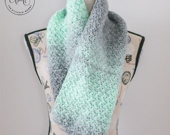 PDF Crochet Pattern - Mint Julep Scarf