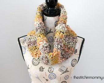 PDF Crochet Pattern - Carnival Games Cowl