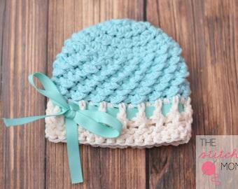 PDF Crochet Pattern - Textured Beanie