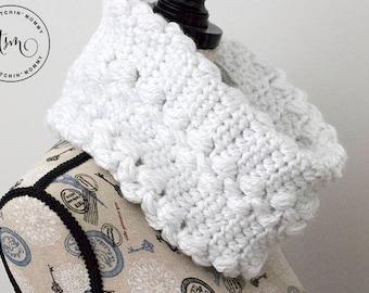 PDF Crochet Pattern - Snowy Path Cowl