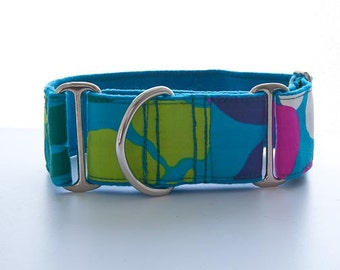"""Hip and Retro 2"""" Martingale-style Dog Collar"""