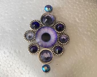 Purple & Silver Third-Eye Bindi