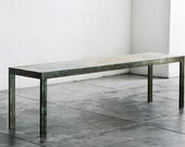 Rustic Steel and Alder Wood Bench Custom Made to Order by Rehab Vintage Interiors, Free U.S. Shipping