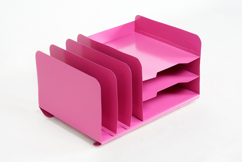 Space Age Desktop File Holder Refinished in Pink | Etsy