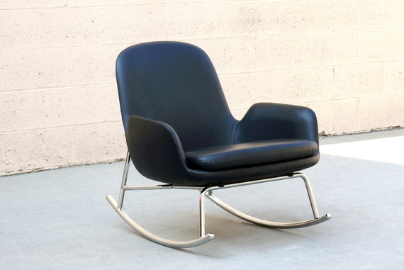 Miraculous Leather And Chrome Danish Modern Rocking Chair By Simon Legald For Normann Copenhagen Free U S Shipping Lamtechconsult Wood Chair Design Ideas Lamtechconsultcom