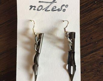 Pen Nib Earrings