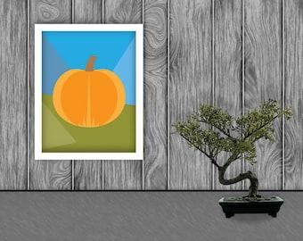 Pumpkin Digital Art Print