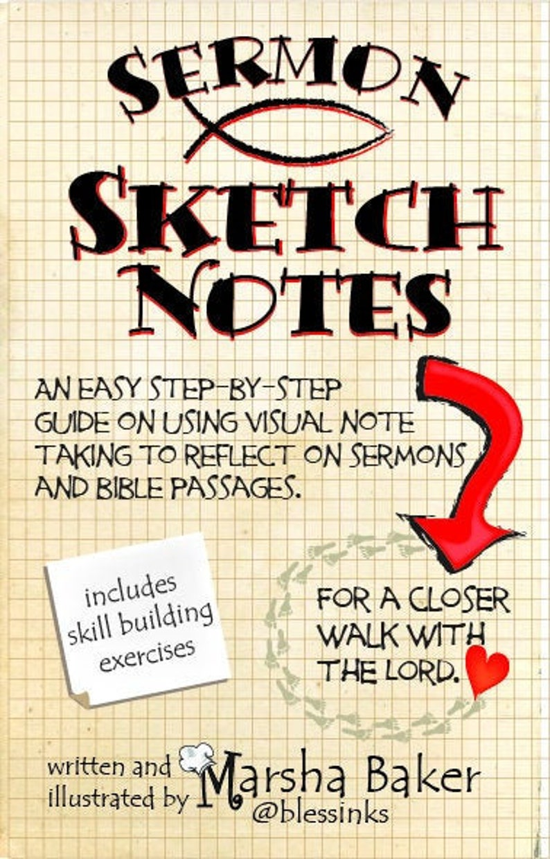 Sermon Sketchnotes an easy step by step guide to visual note taking during  sermons or quite time