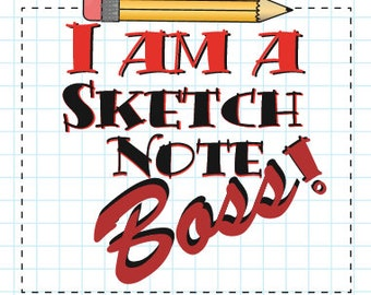Sketchnote Boss sticker (1 free with every order)