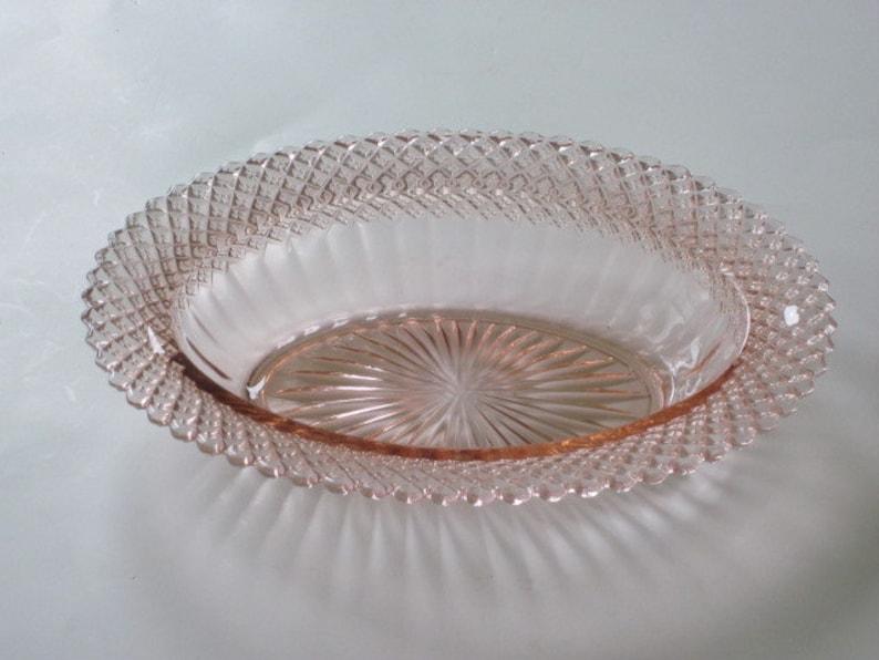 Miss America Sherbet Plate  Pink