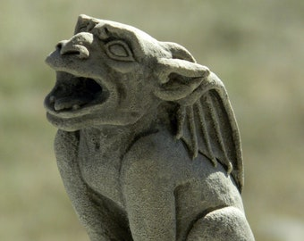 Babygoyle Gargoyle Sculpture Gothic Architectural Ornament Cast Shadows Studio Richard Chalifour