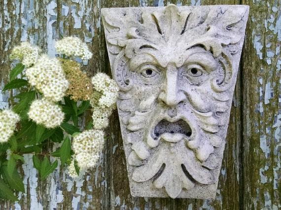 Green Man Newbury Street Keystone Leaf Face Greenman | Etsy