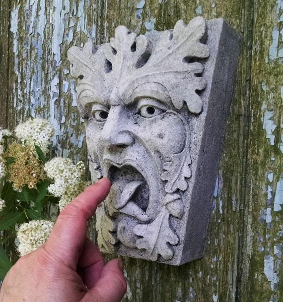 Green Man Mouth Of Truth Keystone Leaf Face Greenman | Etsy