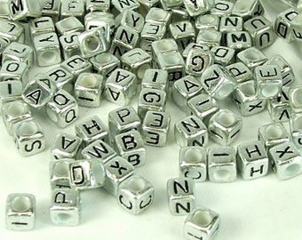 Jewelry & Accessories Black Initial O Printing White Square Acrylic Letter Beads 100pcs 10*10mm Cube Alphabet Plastic Knit Bracelet Jewelry Beads Beads & Jewelry Making