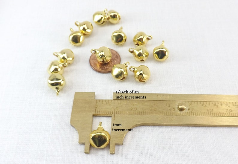 Bells 500 pieces Bulk 10mm Gold Color Steel Jewelry Craft Supply ringing holiday bells  craft supplies charms