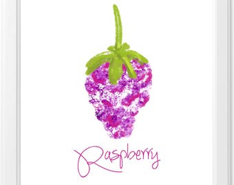 Raspberry Subtractive Art Print