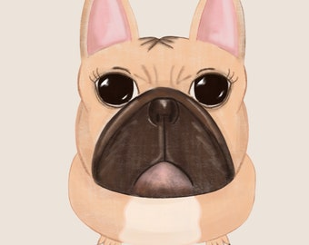 French Bull Dog - Art Print
