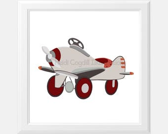 Vinage Airplane Art Print