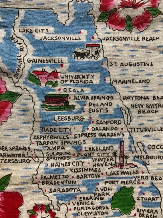 1960's Florida novelty print hankie - image 6