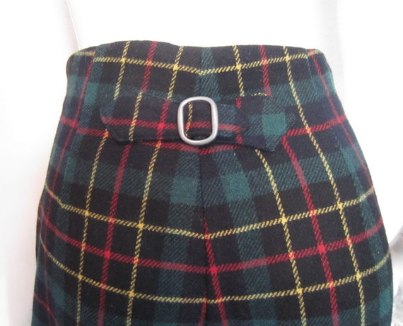 1990's Gap wool plaid pants with back buckle/size