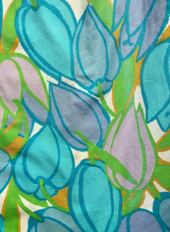 1960's Lady Manhattan cotton tulip print blouse/s… - image 8
