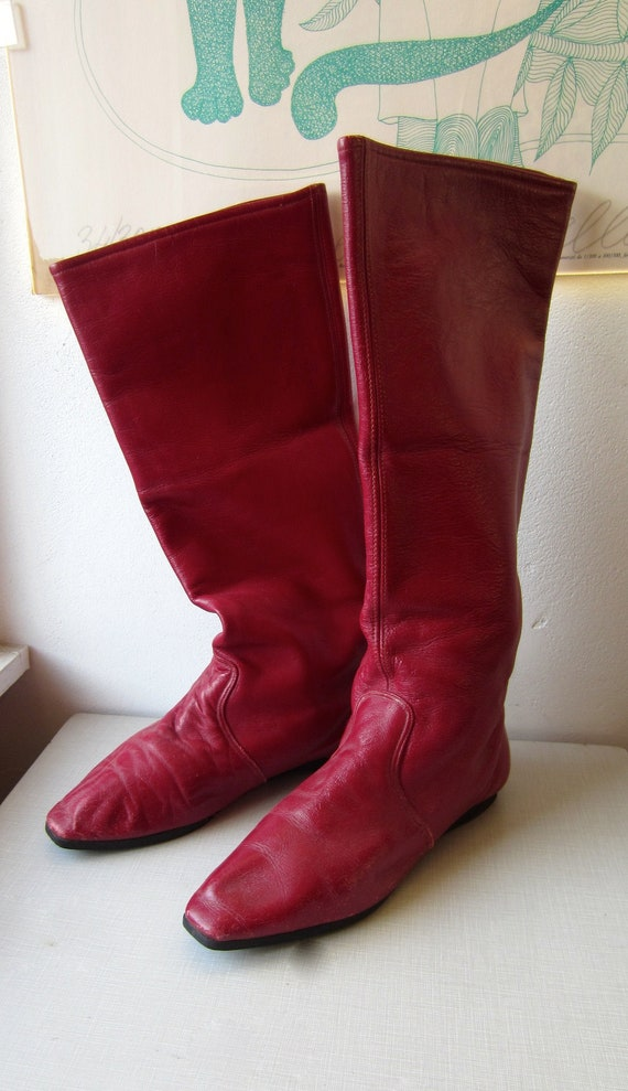 1980's 'Capezios' by Capezio burgundy leather boot
