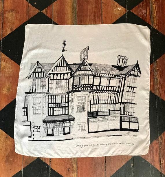 1970's Liberty of London silk scarf