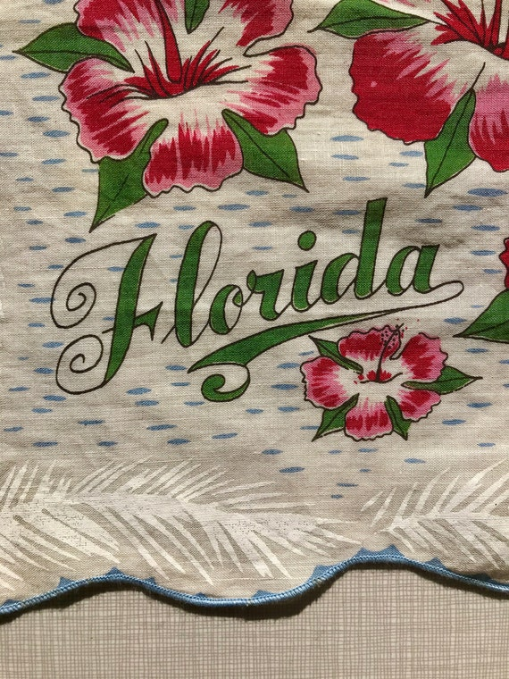 1960's Florida novelty print hankie - image 2
