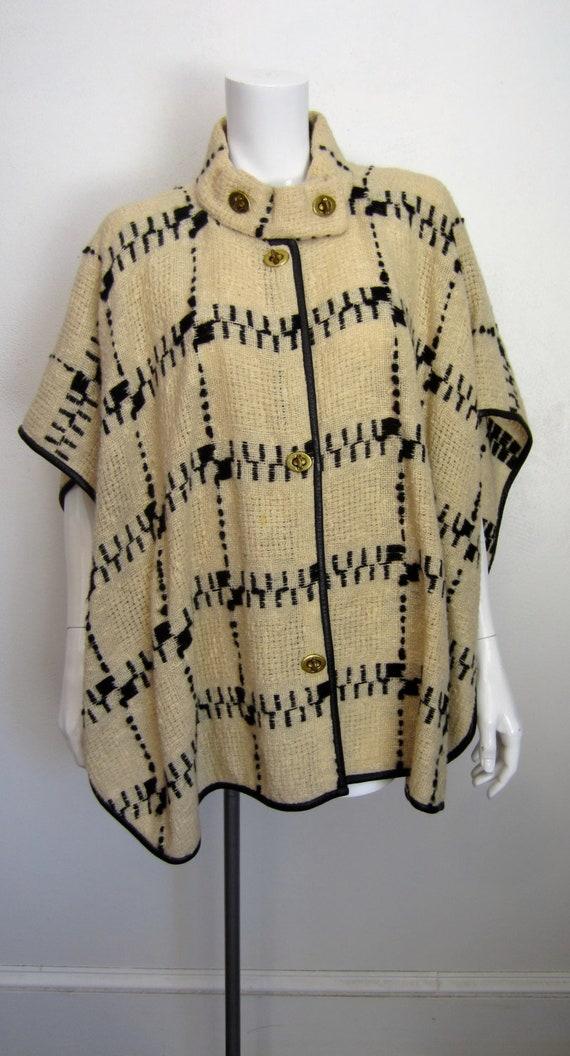 1970s Bonnie Cashin for Sills woven wool cape