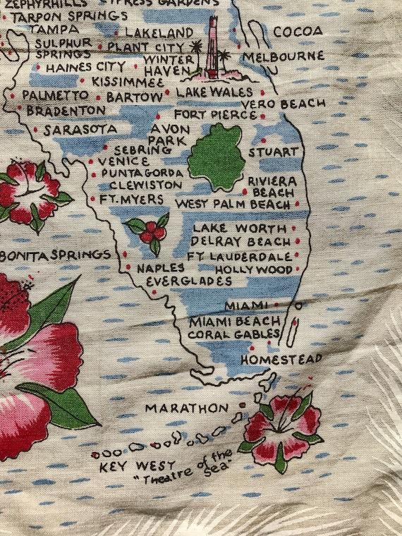 1960's Florida novelty print hankie - image 5