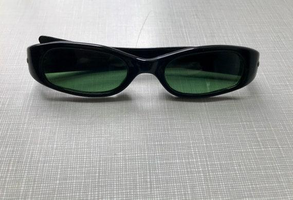 1960's black plastic 'new wave' sunglasses....befo