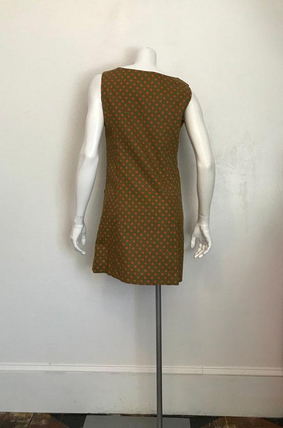 1960's Hunter Sportswear green dress with orange … - image 3