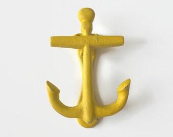 Anchor Door Knocker, Unique Door Knockers, Yellow Wall Art, Nautical Decor, Beach House Decor, Cast Iron Anchor, HGTV Magazine