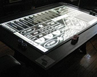BALLCRAPS -- CNC-routed Edge-Lit table -- Football meets craps