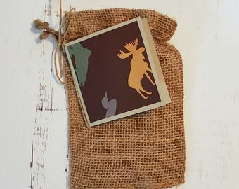 Gift card Bag and Tag / Father's Day / Outdoorsy / Hunter / for Gift Cards Cash or Candy