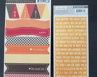 Stickers Banner Word, Jillibean Soup, My Mind Eye,  Cardstock Weight , scrapbook, journal, planner, craft supplies