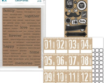 Scrapbook Kit / Calendar, Year in Review / Family Friend Monthly