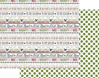 SCRAPBOOK PAPER / 4 Sheets / Christmas Paper / 12 x 12 inches