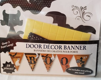 Halloween Banner Kit / 59 pieces, Door Decor, BOO,  Little Yellow Bicycle