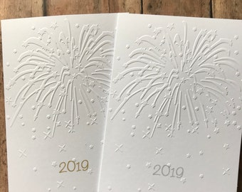 new years card set fireworks card set white embossed cards stationery set happy new year card set 2019 blank note card and envelopes