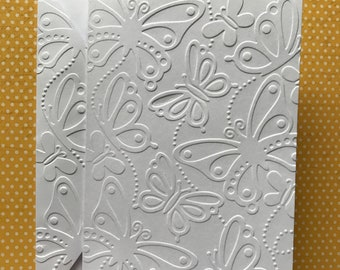 Embossed cards etsy butterfly cards white embossed note cards greeting cards stationery set monarch embossed cards cards for butterfly lovers blank cards m4hsunfo