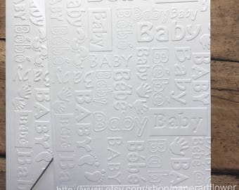 Embossed cards etsy baby card set white embossed card greeting cards stationery set birth announcement blank note card and envelopes bebe cards m4hsunfo