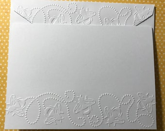 Jewish new year card etsy honey bees cards white embossed note card buzzing honey bees cards greeting cards stationery set blank note cards m4hsunfo