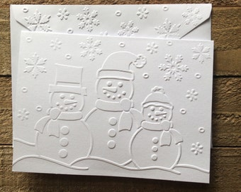Embossed cards etsy snowmen cards christmas card set white embossed cards greeting cards stationery set snowman cards winter blank cards and envelopes m4hsunfo