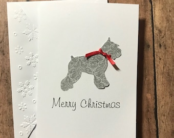 Pet holiday cards etsy christmas miniature schnauzer cards stationery set greeting cards merry christmas cards holiday cards blank note cards and envelopes m4hsunfo