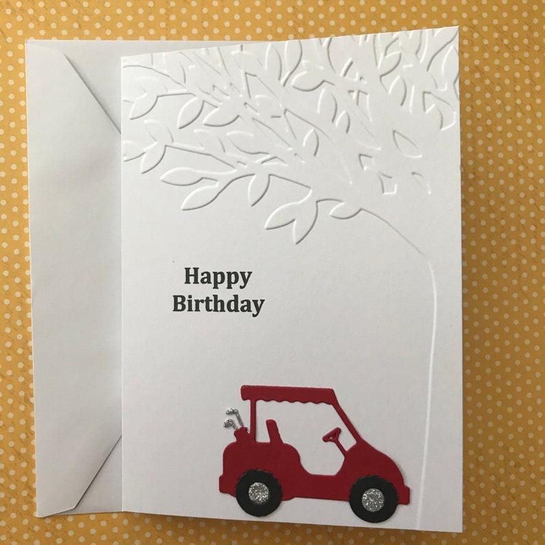 Happy Birthday Card Golf Greeting For Golfer
