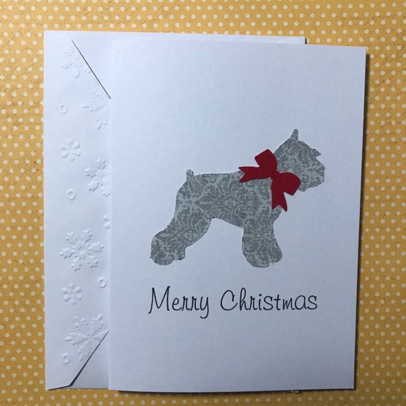 Christmas Miniature Schnauzer Cards, Stationery Set, Greeting Cards, Merry  Christmas Cards, Holiday Cards, Blank Note Cards and Envelopes