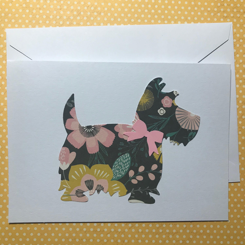 Scottie Card Dog Cards Scottish Terrier Card Cards For Dog