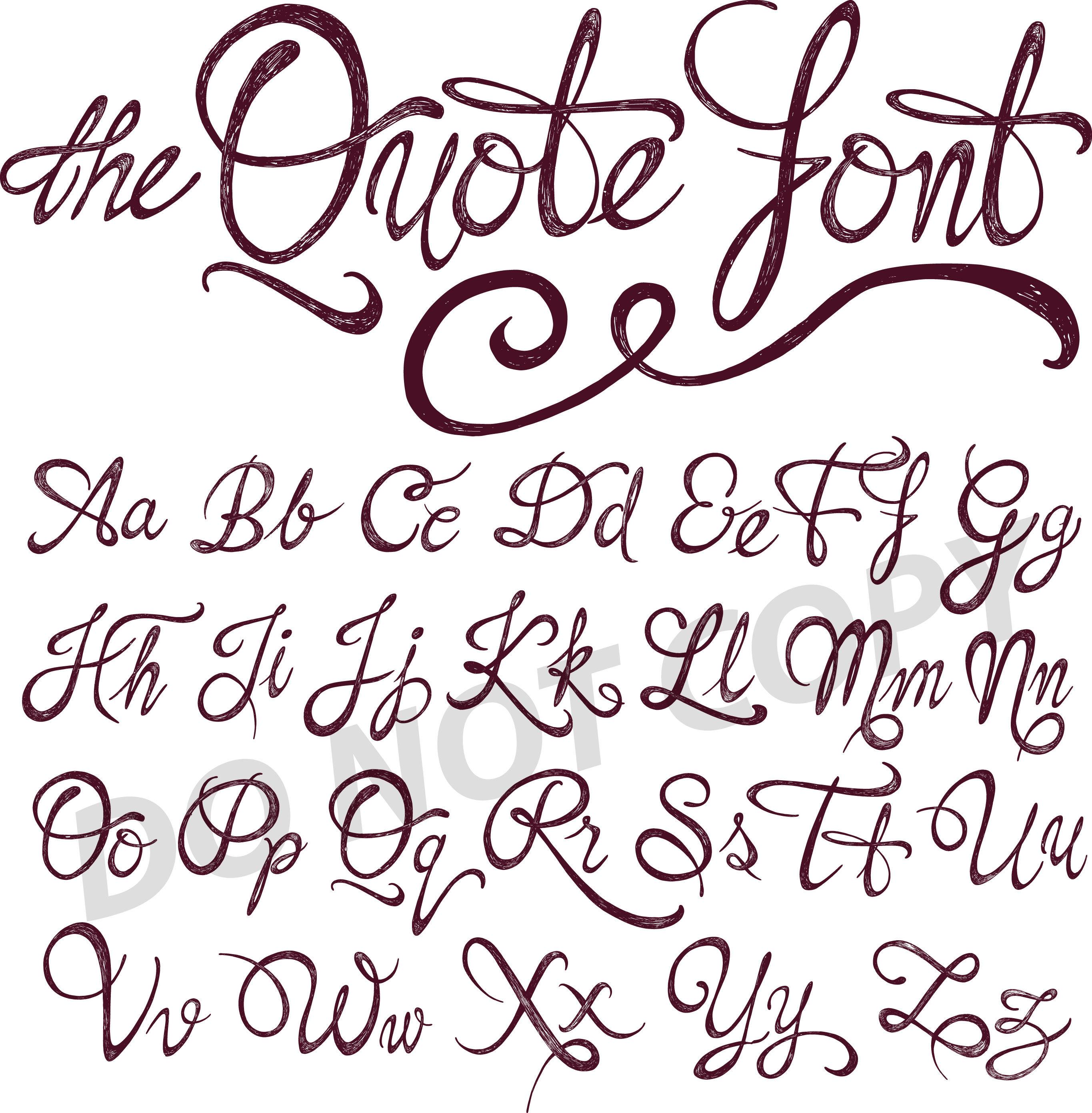 Download SVG DXF silhouette cricut font script calligraphy ...