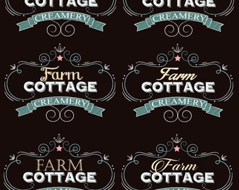 Chalkboard Farm Country Shabby Chic logo graphics signs and more.